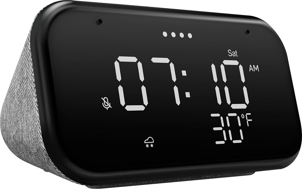 Lenovo Smart Clock Essential - Soft Touch Gray