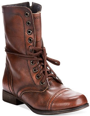 Steve Madden Women's Troopa Combat Leather Boots & Reviews - Boots - Shoes