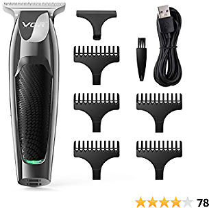 Cordless Hair Clippers, Men's Grooming Kit with Trimmer Professional for Beard, Head, Body, and Face, USB Rechargeable Hair Clipper Kit