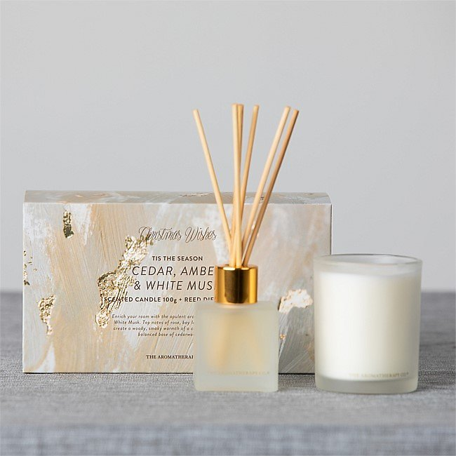 Christmas Wishes 'Tis The Season Diffuser & Candle Set
