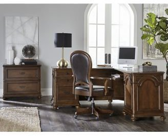 Clinton Hill Cherry Home Office Furniture, 2-Pc. Set (Executive Desk & Upholstered Desk Chair)