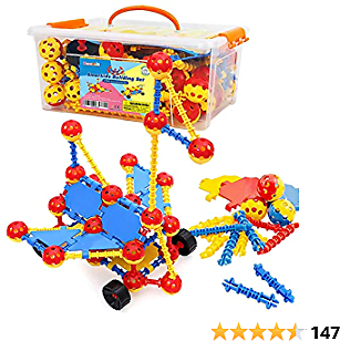 Smarkids Building Blocks for Toddlers, STEM Building Toys Educational Learning Construction Toys, 3D Toy Blocks Building Sets Engineering Toys Gift for Kids Boys Girls Ages 3 4 5 6 7 8 9 10 Year Old