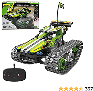 Remote Control Car for Boys - RC Tracked Racer Building Blocks Set Kit, Fun, Educational, Learning, STEM Toys for Kids Age 8, 9, 12, 13 and 14 Year Old Boy Gift Ideas