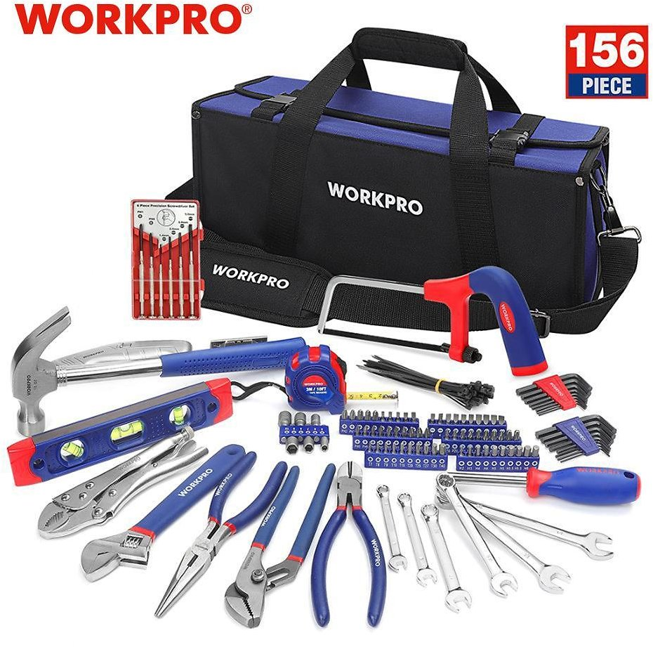 US $70.39 36% OFF|WORKPRO 156PC Home Repairing Tool Set Tool Kits with Tool Bag Screwdriver Hammer Pliers Wrench|Hand Tool Sets| - AliExpress