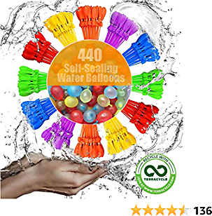 Family Made Company Water Balloons for Boys Girls and Adults Party Pool with Rapid-Filling Balloon Latex Instant Water Bomb Fight Games Summer Splash Fun Kids Outdoor Backyard Tt444
