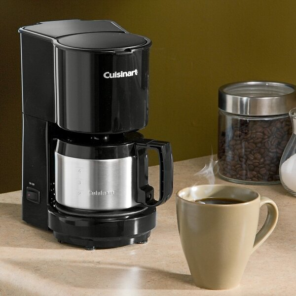 4 Cup Coffeemaker with Stainless Steel Carafe