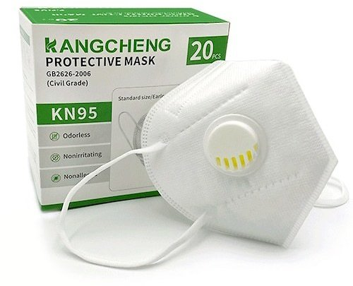 KN95 Mask with Valve 5-Layer Protection Built-in Non-Medical FFP2 Mask with Breathing Valve FFP3 20pcs