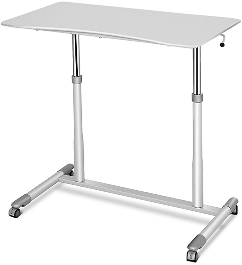Sit-Stand Rolling Adjustable Height Computer Desk
