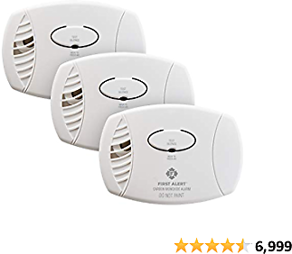 First Alert CO400 Carbon Monoxide Detector, Battery Operated, 3-Pack
