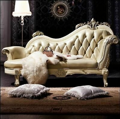 Sofa French Design Leather Couches Living Room Furniture Sofa Chaise Lounge 196