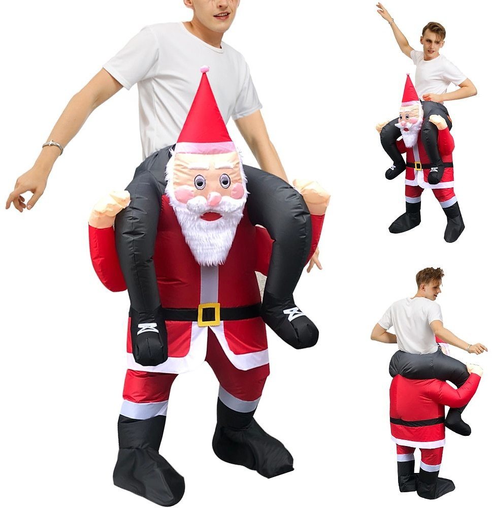US $26.99 50% OFF|Christmas Gift Santa Claus Costume Adult Halloween Party Mascot Inflatable Costumes Fancy Role Play Disfraz for Man Woman|Movie & TV Costumes| - AliExpress