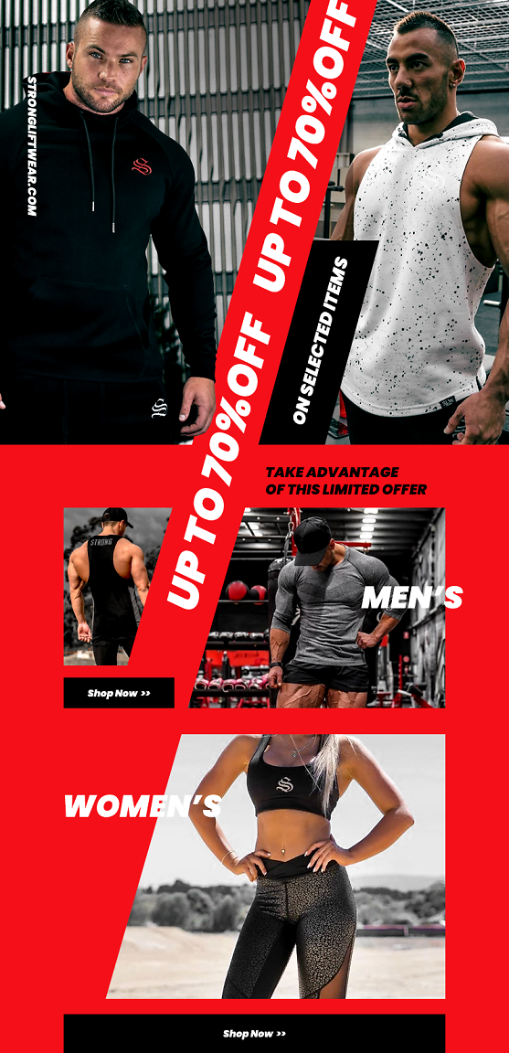 70% OFF Clearance Items SPORTSWEAR AND ACCESSORIES