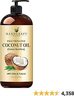 Fractionated Coconut Oil 16 Fl. Oz– 100% Pure & Natural Premium Therapeutic Grade - Coconut Carrier Oil for Essential Oils, Massage, Moisturizing for Skin & Hair, Great for Dogs - Bottle May Vary