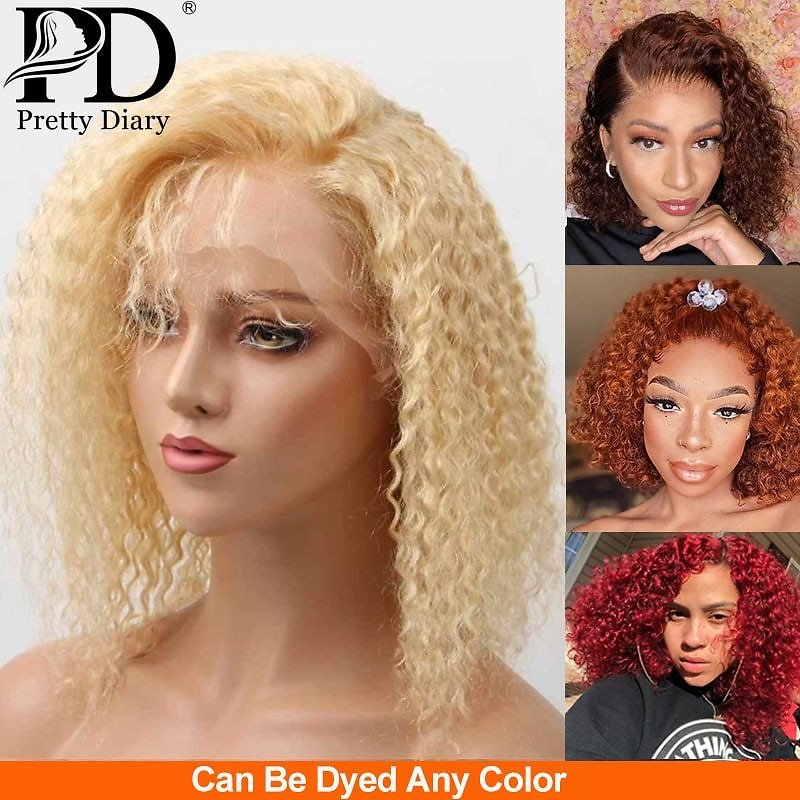 US $55.0 84% OFF|613 Honey Blonde Deep Wave Wig Transparent 4x4 Lace Closure Human Hair Wigs for Women Brazilian Water Wave Curly Short Bob Wig|Human Hair Lace Wigs| - AliExpress