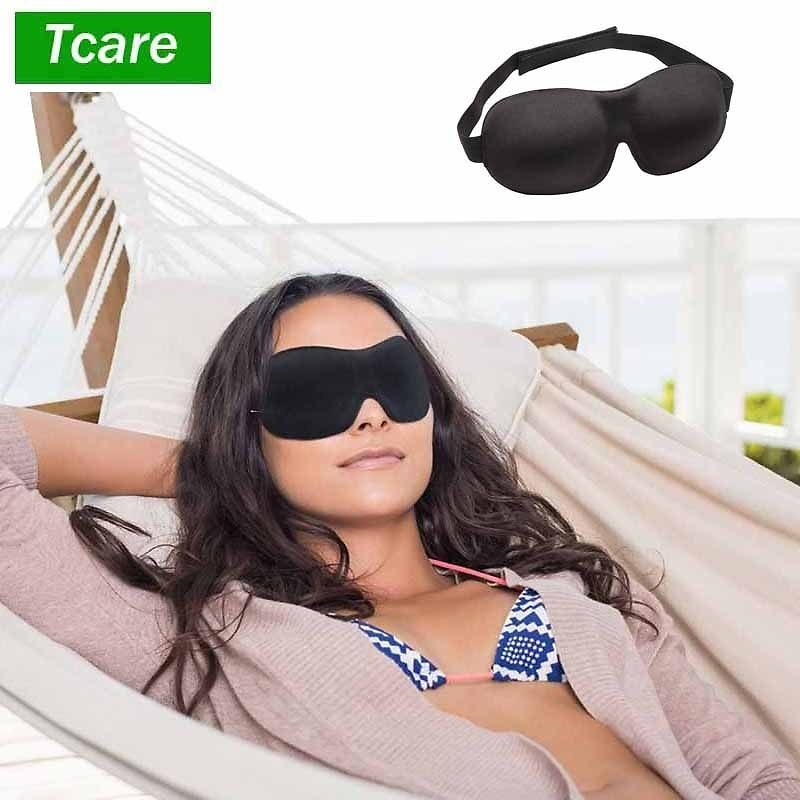 US $3.21 40% OFF|Tcare 3D Sleeping Eye Mask, Travel Sleep Eye Shade Cover Nap Eye Patch Blindfolds Blinders Create Total Darkness for Woman Man|Sleep & Snoring| - AliExpress