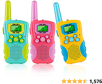 Obuby Kids Walkie Talkies 3 KMs Long Range 2 Way Radio 22 Channels for Kid Toys Gifts with Backlit LCD Flashlight Best Gift for Age 3-12 Boys and Girls for Outdoor Adventure Game