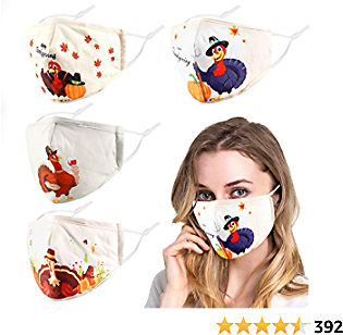 Woplagyreat 4Pcs 100% Cotton Face Cover Washable Reusable for UV Protection Cooling Outdoor Summer
