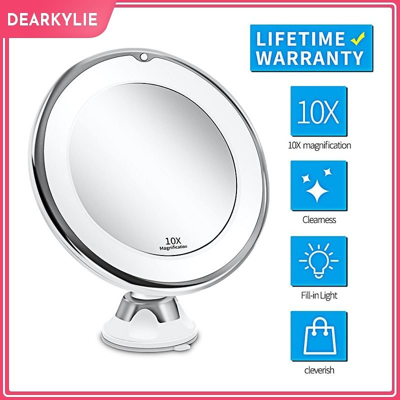 US $10.58 22% OFF|Makeup Vanity Mirror With 10X Lights LED Lighted Portable Hand Cosmetic Magnification Light Up Mirrors VIP Link Dropshipping|Makeup Mirrors| - AliExpress