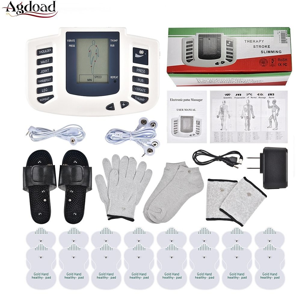 US $14.76 49% OFF EMS Body Electrical Muscle Stimulator Tens Acupuncture Slimming Massager Body Massage Digital Therapy for Back Neck Foot 16 Pads Relaxation Treatments  - AliExpress