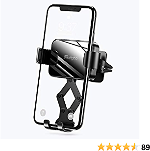 Meifigno Car Phone Mount, Air Vent Car Phone Holder, Gravity Auto-Clamping Hands-Free Car Mount Compatible with IPhone SE/11 Pro Max/Xs/XR/8 Plus, Samsung Galaxy S20+ Ultra Note10 Plus & All