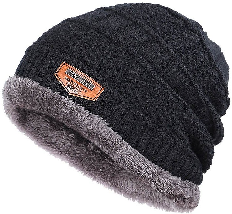 US $3.27 50% OFF|Winter New Knitted Men's Hats Plus Velvet Thickening Outdoor Warm and Comfortable Caps Unisex Leather Label Skullies Beanie Male|Men's Skullies & Beanies| - AliExpress