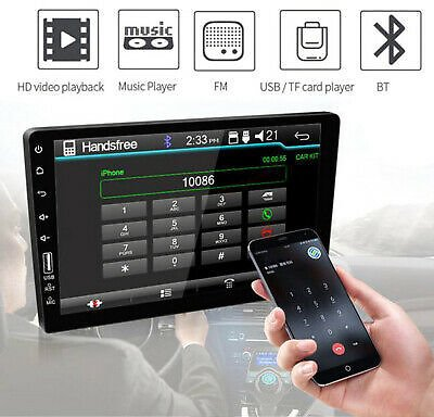 9'' 2Din Touch Screen Bluetooth USB/AUX Car Radio Stereo Multimedia MP5 Player