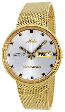 Mido Commander I Automatic Silver Dial Gold-tone Men's Watch M842932113 7612330012313