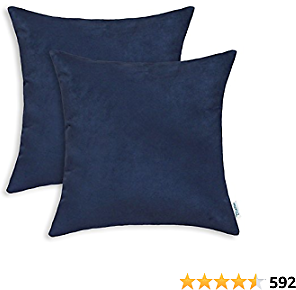 CaliTime Pack of 2 Cozy Throw Pillow Covers Cases