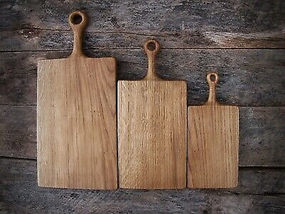 Wooden Oak Chopping Boards with Handle | Rustic Cutting Board |Wood Cheese Board