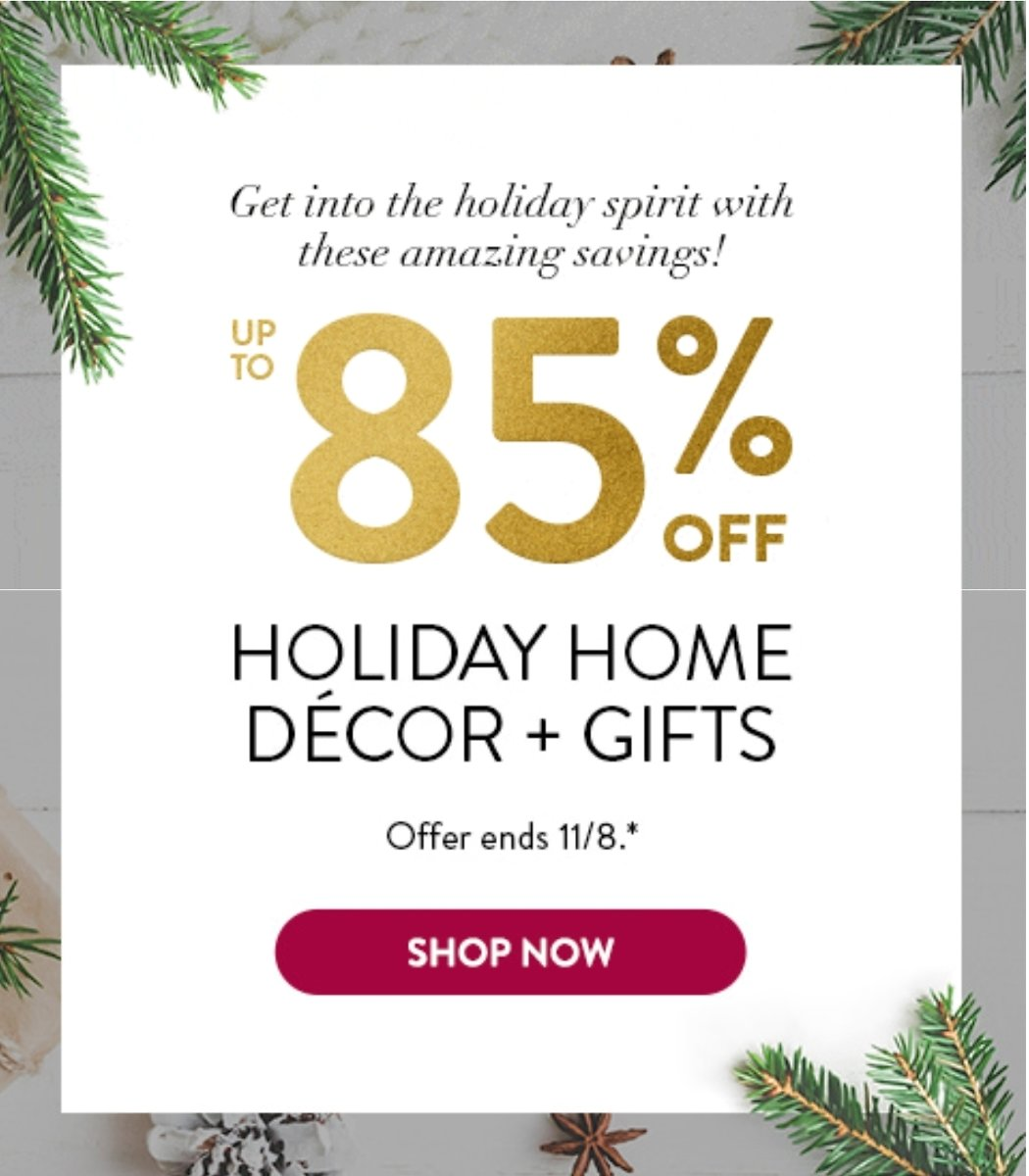 Up To 85% Off Holiday Home Decor + Gifts