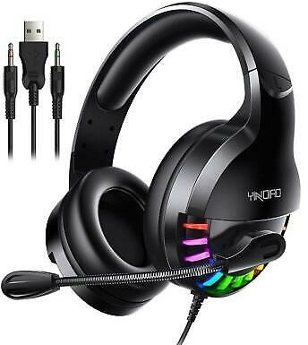3.5mm LED Gaming Headset with Mic Headphones Surround For PC Laptop PSP
