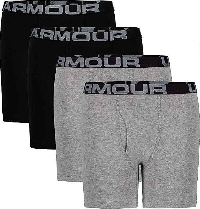 Pack of 4 - Under Armour Men's Cotton Stretch Boxer