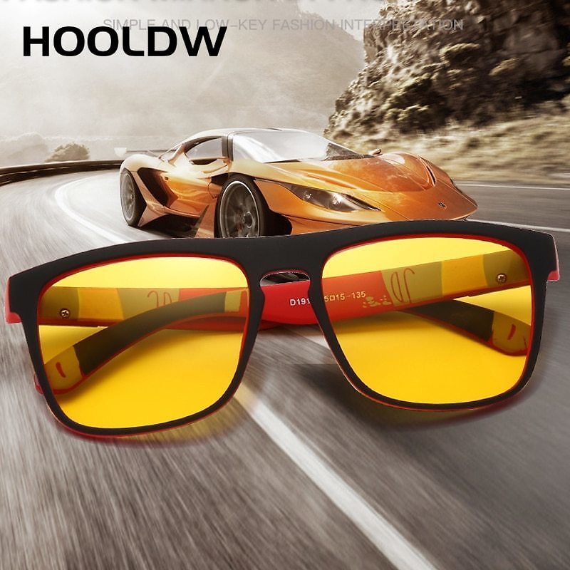 US $3.66 45% OFF|HOOLDW Night Vision Glasses Men Women Polarized Sunglasses Yellow Lens Anti Glare Goggle Night Driving Sun Glasses UV400 Eyewear|Men's Night Vision Glasses| - AliExpress