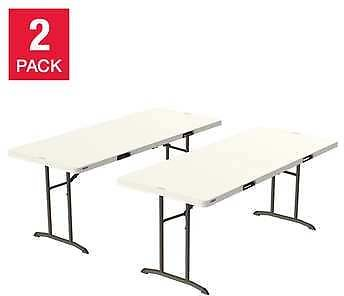 2-pack Lifetime Commercial 6' Fold-in-Half Table