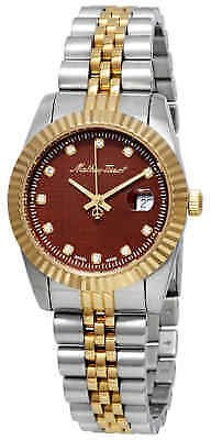 Mathey-Tissot Rolly III Crystal Brown Dial Ladies Watch D810BM 842047132524