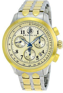 Brooklyn Prince Swiss Quartz Chronograph Ivory Dial Men's Watch 845960067737