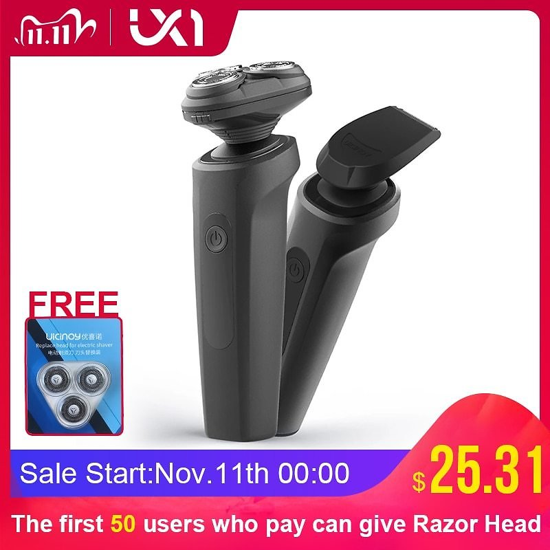 US $31.37 43% OFF|UICINOY Electric Razor Shaver for Men IPX7 Waterproof Washable Removable Precision Beard Hair Trimmer Mens Rotary Shavers|Electric Shavers| - AliExpress