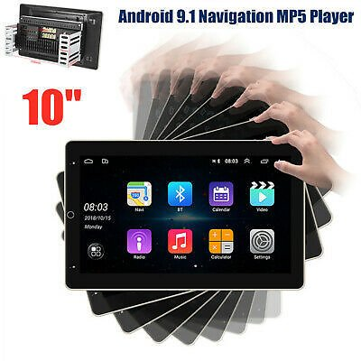 10'' 2DIN Android9.1 GPS WIFI USB Mirror Link 1G+16G Car Radio Video MP5 Player