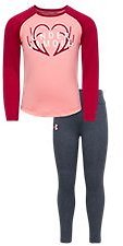 Under Armour Core Logo Raglan Long-Sleeve Shirt and Pants Set for Babies, Toddlers, or Kids | Bass Pro Shops