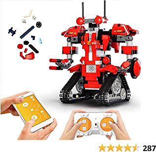 Mould King Remote Control Building Block Robot Kit with APP Control S T E M Robotic Building Block Toys Set for 6 7 8 9 10 11 12 13 Boys and Girls Gift (392 Pieces, 13001)