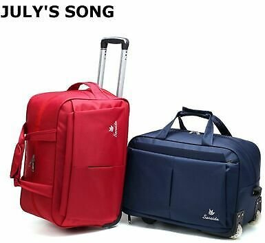 Luggage Trolley Suitcase Duffle Carry-On Bag with Wheels Travel Large Capacity