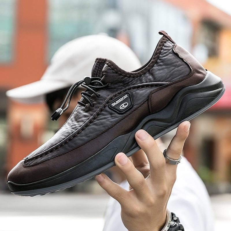 New Fashion Mens Walking Shoes Flat Loafer Man Car Shoes Male Outdoor Office Business Shoes