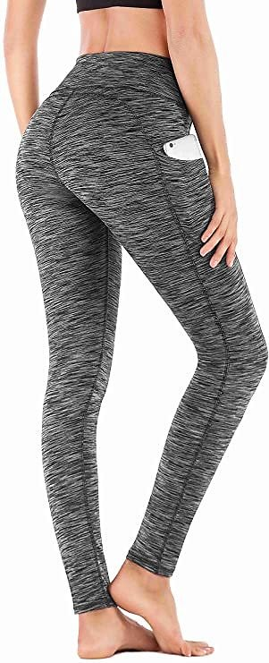 40% Off IUGA High Waist Yoga Pants with Pockets, Tummy Control, Workout Pants for Women 4 Way Stretch Yoga Leggings with Pockets