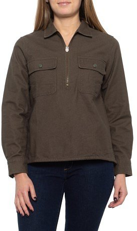 Woolrich Chamois Pullover Shirt - Zip Neck, Long Sleeve (For Women)
