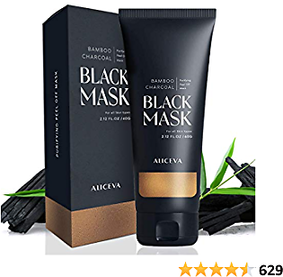 Aliceva Blackhead Remover Mask, Black Mask, Charcoal Peel Off Mask, Activated Charcoal Face Mask For All Skin Types - 2.12 FL.OZ / 60G