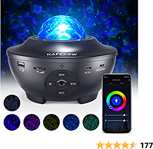 36%off 10 Color Music Star Projector, work with Smart App and Alexa, for Bedroom