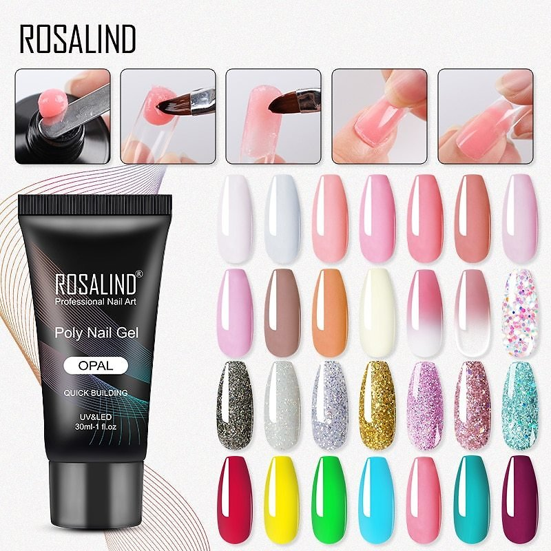 UV Gel Polish Extension Acryl Gel Varnish Hybrid 30ML Poly Poly Gel For Nails Extension Finger Nail Art Manicure