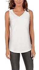 Natural Reflections Lace Trim V-Neck Tank Top for Ladies | Bass Pro Shops