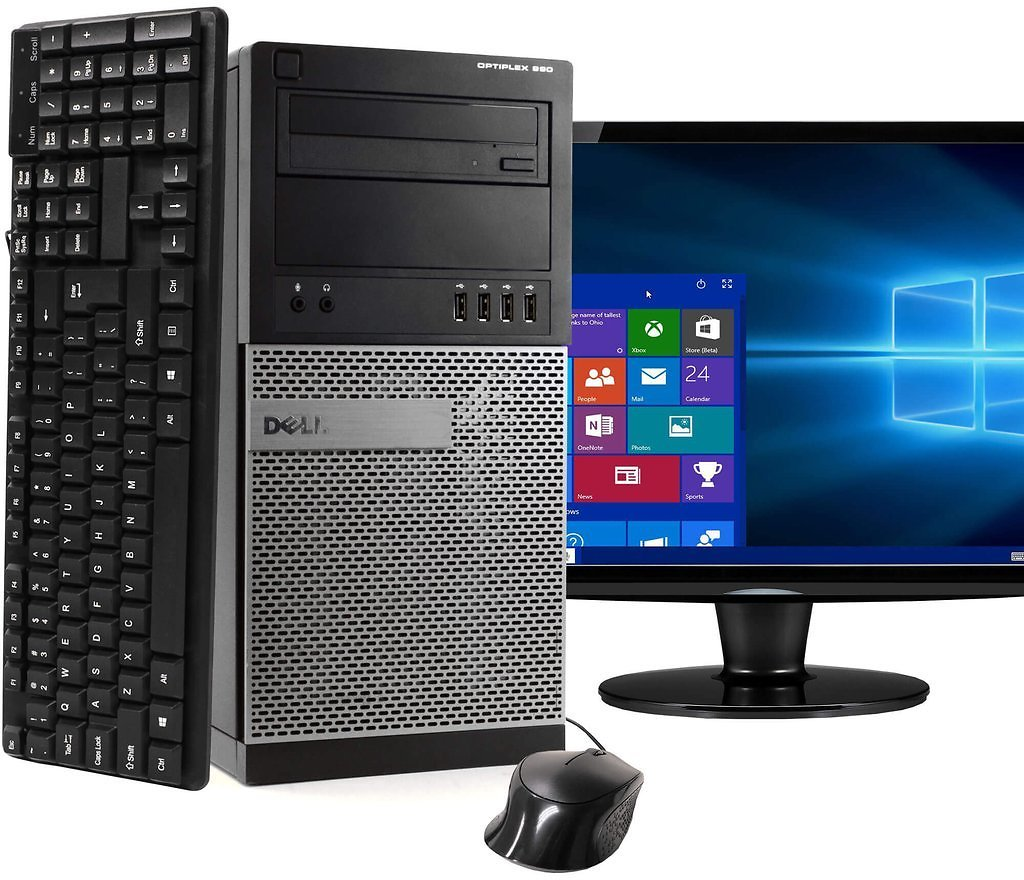 Dell OptiPlex 990 Tower Computer PC Windows 10 Home 64 Bit with 22