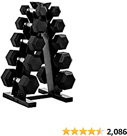 CAP Best Barbell 150-Pound Dumbbell Set with Rack, Multiple Options